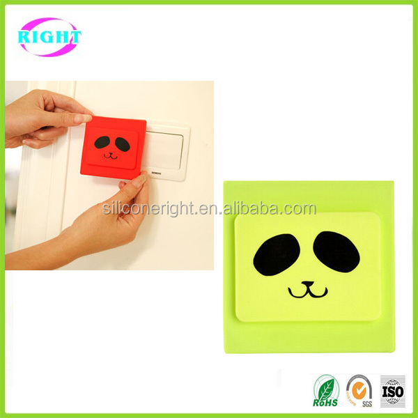 colorful safety silicone light switch cover