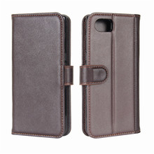 High Quality Genuine Leather Folio <strong>Case</strong> for <strong>BlackBerry</strong> Keyone DTEK 70