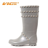 2015 unique women high heels silicone rubber rain boots