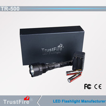 Military hand tool TrustFire TR-500 promotional tactical light, rechargeable Led spotlight portable flash light night light