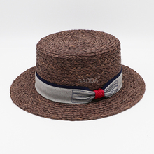Cheap straw hats straw boater hat wholesale pattern hat