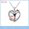2015 heart necklace antique jewelry the heart --shape wood jewelry box charm necklace