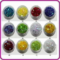 2014 hot selling New Style fashion Artificial Fingernails nail art tips nail glitter mixed shapes set