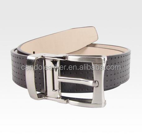 New Cow Genuine Leather Mens Belts Luxury Copper Pink Buckle 3.8cm Wide Leather Belt for Men