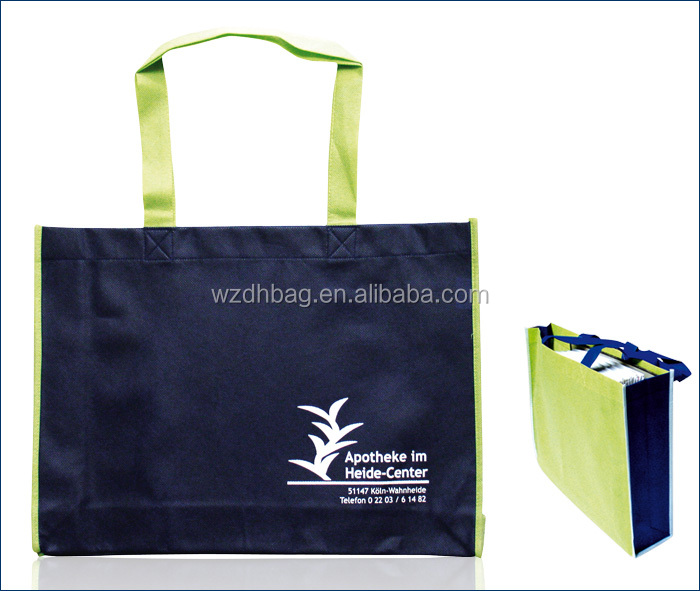 Factory supply cheap polypropylene nonwoven spunbond tote bag for shopping and grocery