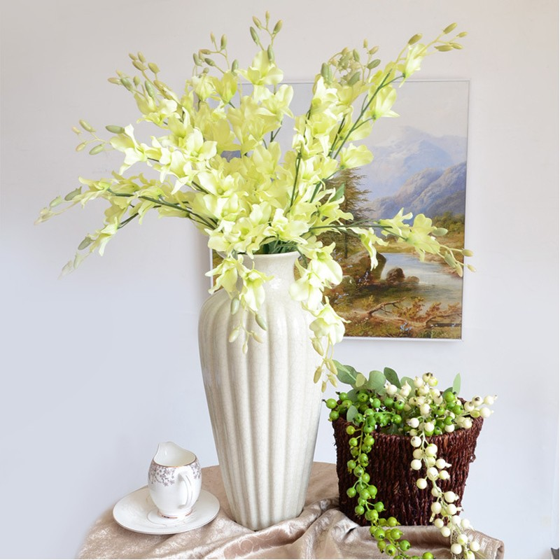 Wholesale silk flowers flower market in guangzhou white dendrobium 4g junglespirit Image collections