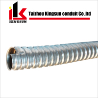 Chrome plated flexible corrugated electrical conduit pipes