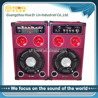 Fashion factory direct speaker 2.0 professional pa speaker system audio speaker multimedia speaker with usb sd mic