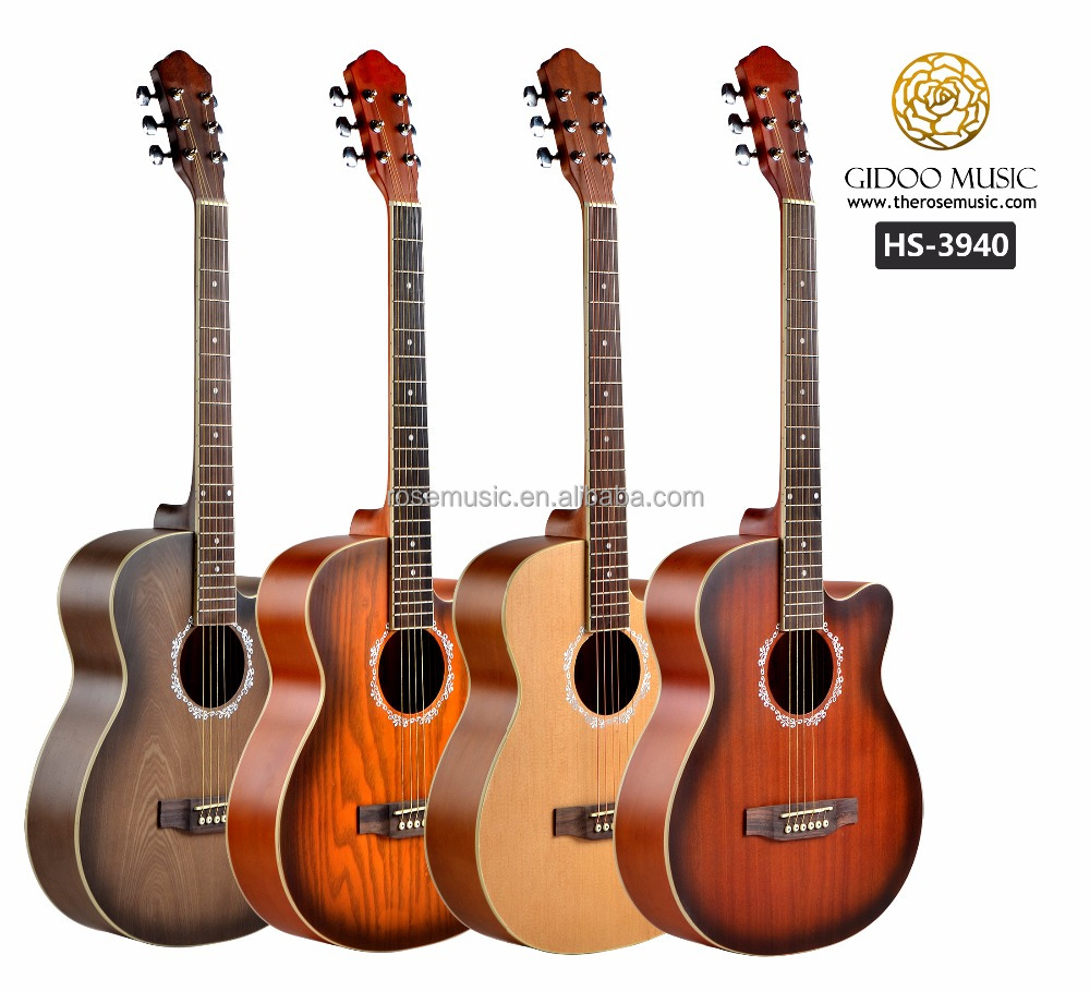 Hot sale 39 inch high quality acoustic guitar for beginners made in China