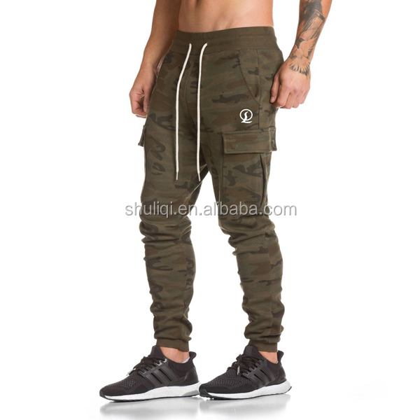 Tracking tapered Bottom for men, small leg cuff plain Jogging trousers logo embroidered