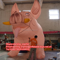 Outdoors Promotional Inflatable Wild Boar with Flash Eyes