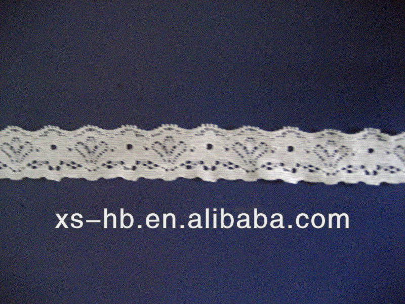 wave and eyelash lingerie nylon lace with elastic
