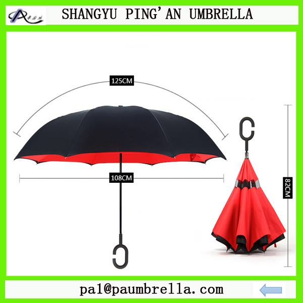 2016 New design inside out magicbrella c handle inverted umbrella