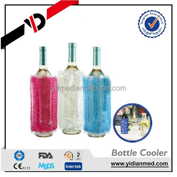 Fda Approved Plastic Individual Wine Bottle Cooler Bag For