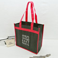 Custom made 3 bottle wine bag non woven