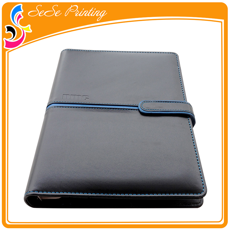 Custom office supplier leather diary notebook printing 2017