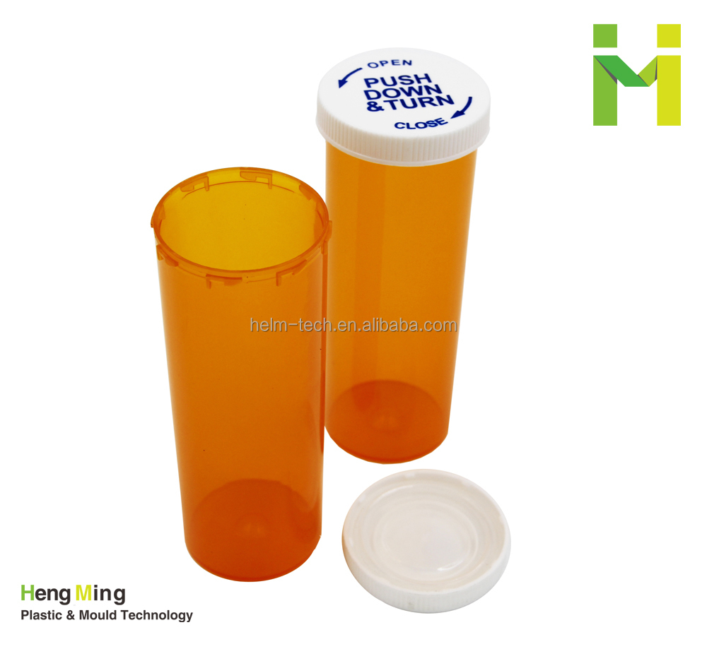 Plastic Vials with safety cap