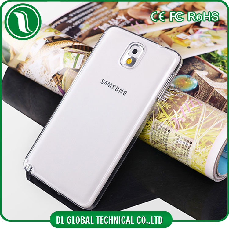 Hot selling Glossy Clear Hard PC Case for samsung galaxy note 3 DLPC02