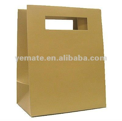 Machine made brown printed logo kraft paper sandwich bag plastic lined kraft paper bag kraft paper coffee bags