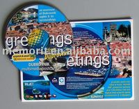 Mini Round shape CD Replication Printing with Postcard packing