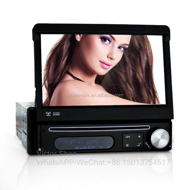 private module 7inch 1din universal car DVD player with all-in-one functions and detachable panel for anti-theft DH7089