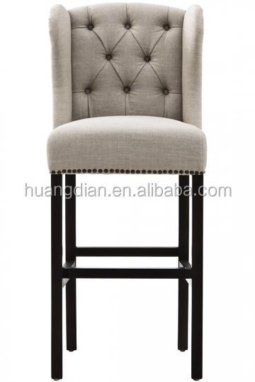 Moderne ontwerp keuken ontbijt linnen fluwelen stof barkruk stoel houten stoelen product id - Linnen stoel ...