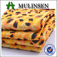 Mulinsen Textile Hot Sale Printed Cheap Wool Peach Fabric For Summer Trousers