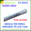 The new invention warm white AC85-265V SMD2835 CE ROHS 2014 2013 www hot sex com led t8 tube light