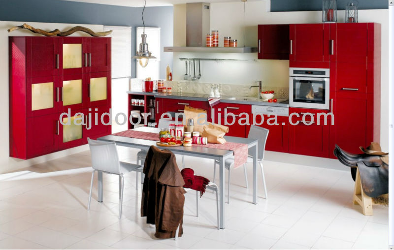 Classic PVC Kitchen Cabinets For House Design DJ-K430