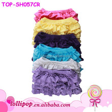 Wholesale Kids Boutique Clothes Summer Baby Girls Toddler Knit To Cotton Ruffle Icing Shorties Remakes Blank Jersey Board Shorts