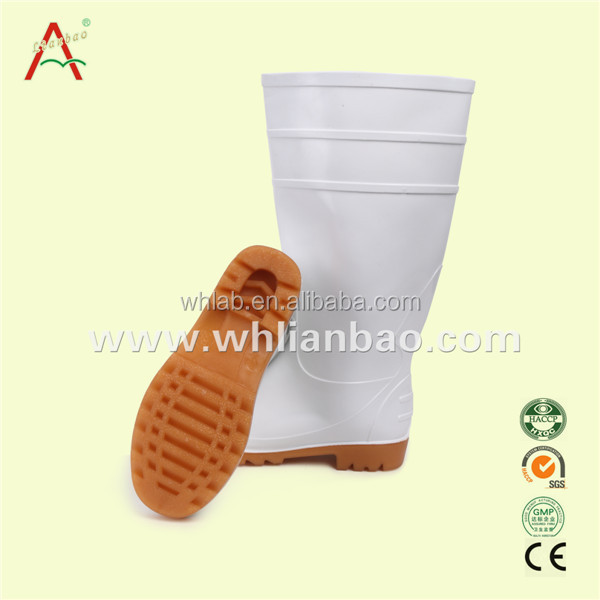 food factory white pvc safety boot industrial boots