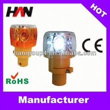 solar LED revolving flashing trafic caution light
