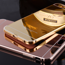 High quality metal frame mirror back phone case for Huawei