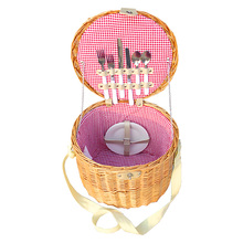 Wholesale Eco-Friendly cute cheap gift wicker picnic basket for children