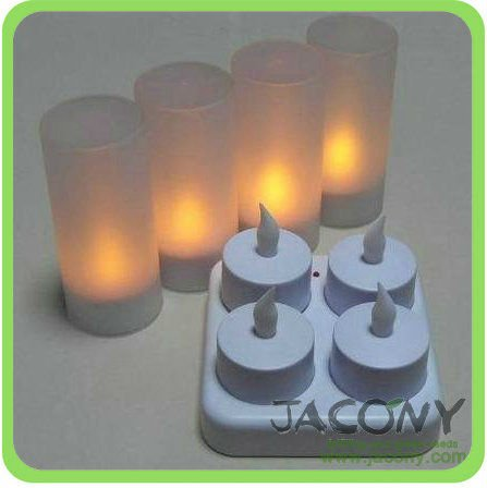 LED rechargeable candle (LRC-04)