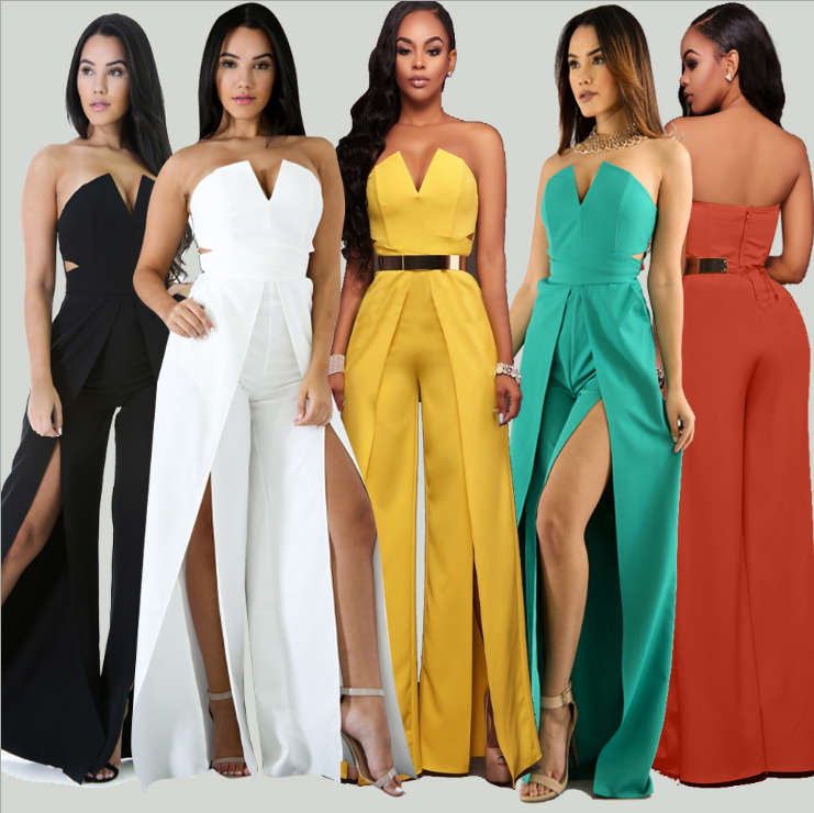 lx10108a American and European style fashion clothes women sexy boutique formal jumpsuits