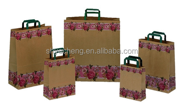hot seller eco-friendly machine made shopping paper bag/kraft paper bag wholesales manufacturer