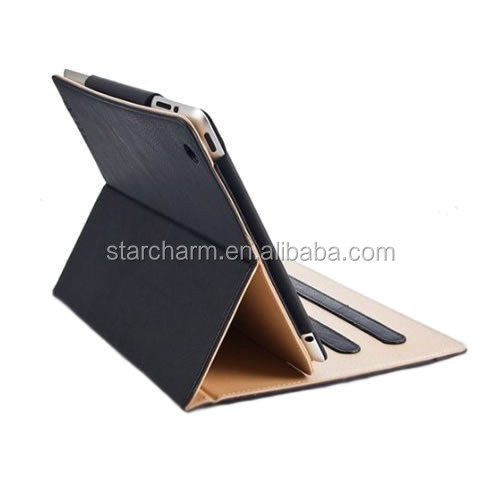 Low price magnetic flip pu leather back cover leather case for ipad air