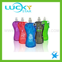Assorted colored drinking bottle BPA free sports bottle outdoor fold bottle