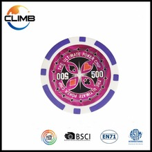 11.5g Plastic custom poker chips Novelty strips with lucky poker good luck