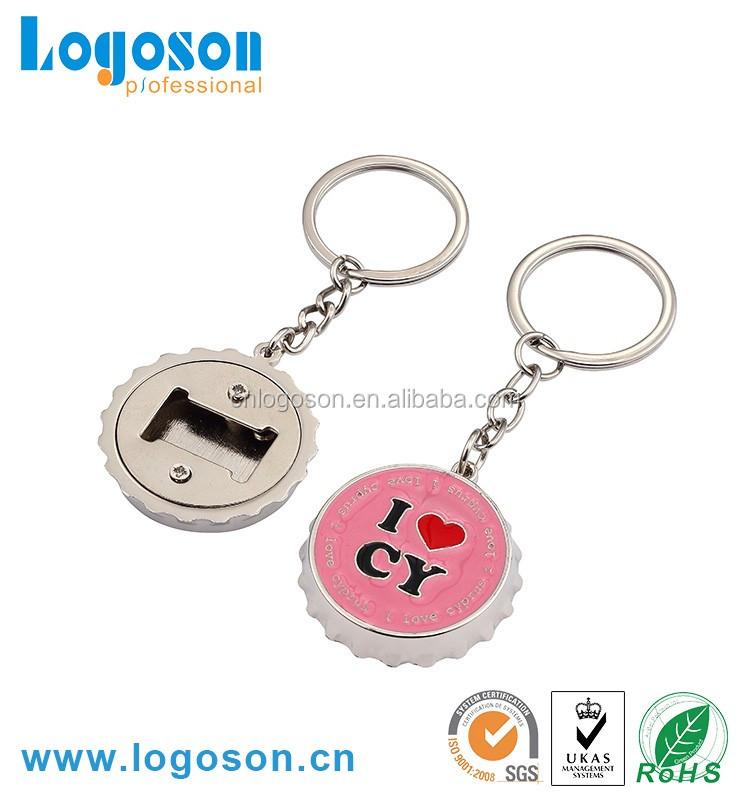 High Quality Souvenir Cheap Custom Metal Bottle Opener Keychain