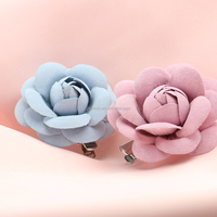 2017 New Design Fashion Handmade Leather Rose Flower Hair Accessories for Girls