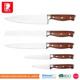 Best Professional wooden handle 5 pcs kitchen forged knife set