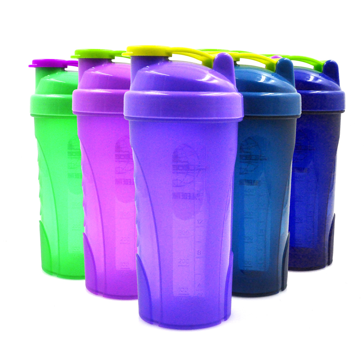 Assorted Colors Vitamin Protein Bottles Joyshaker,Flip Lid,600ml,Logo Printing,Shaker Cup