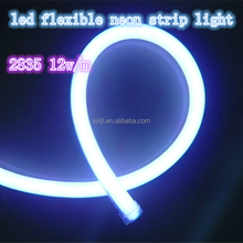 12w/m IP68 double sided pure white 2035 220v led flexible neon strip light
