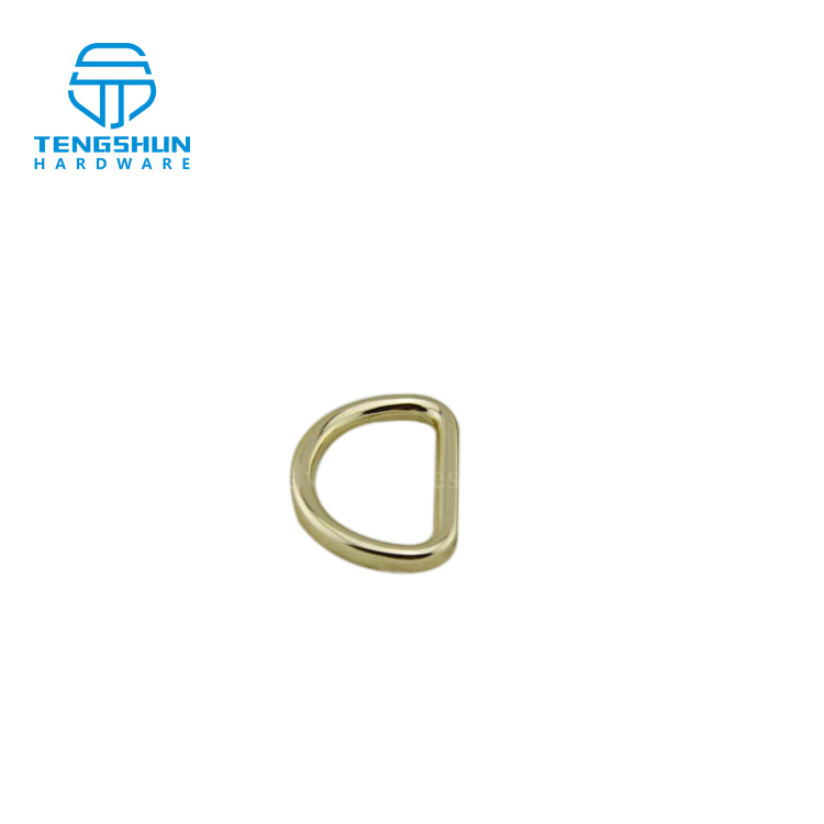 Wholesale metal <strong>D</strong> shape ring for bags manufacture in China zinc alloy accessories for purse