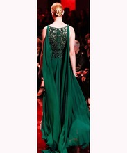 New design Green jersey long beaded wedding dress bridal gown wholesale evening prom dresses made in china