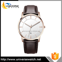 Custom watch manufacturer ultra slim 3ATM stainless steel back watch