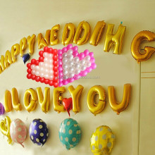 Custom made shape balloons, foil balloon letter for sale A-Z available