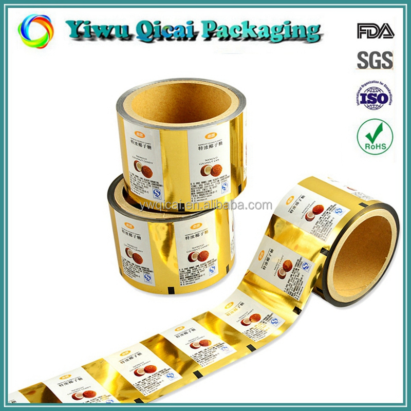 High Barrier Laminated Twist Candy Snack Food Packaging Plastic Film Roll